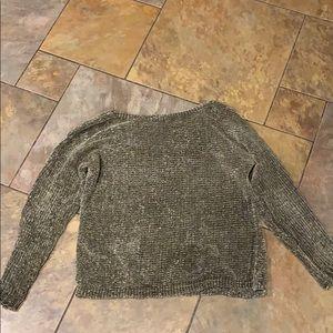 Womens Francescas Chenille Green Sweater